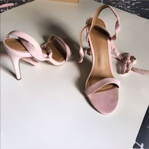 ASOS heeled sandals with lace up NEVER WORN